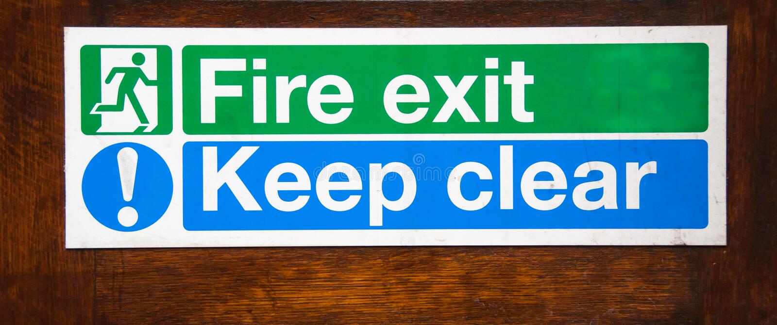 Download Fire Exit Keep Clear Royalty Free Stock Photos - Image: 26440018