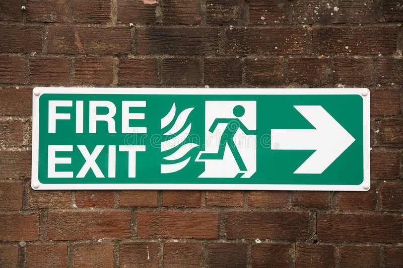 Fire exit sign royalty free stock photo