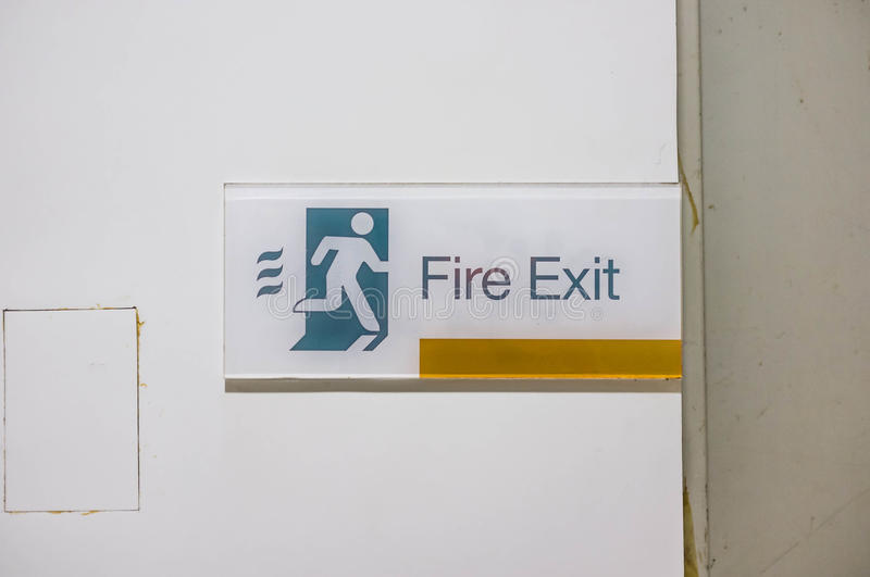 Fire Exit Sign. In commercial building royalty free stock photos
