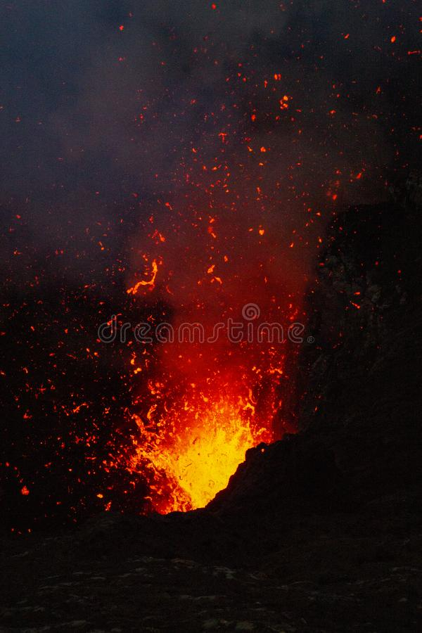 Fire explosion stock photo