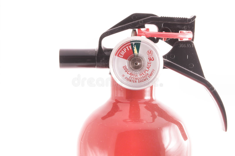 Fire Extenguisher. A fire extinguisher with discharge indicator royalty free stock photo