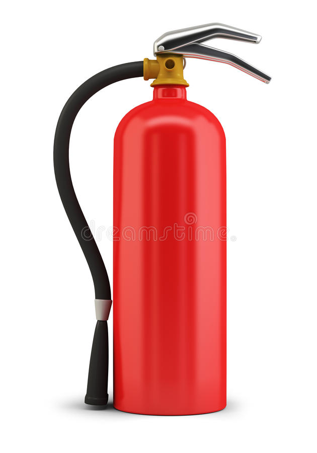 Fire extinguisher. 3d image. Isolated white background stock illustration