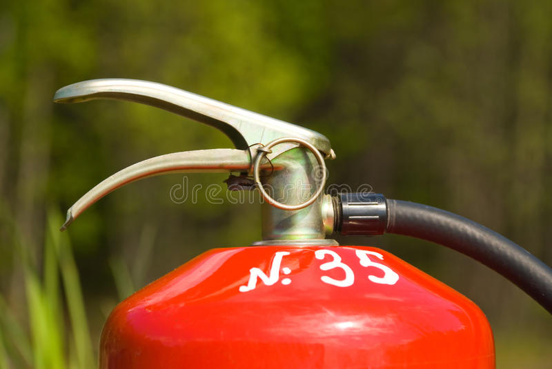 The fire extinguisher stock photo