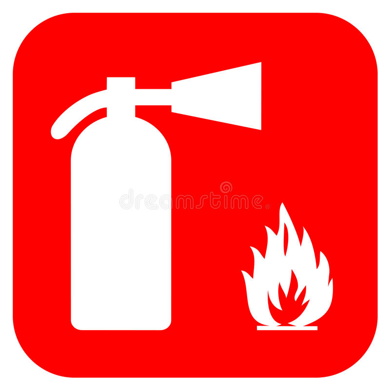 Fire extinguisher royalty free illustration