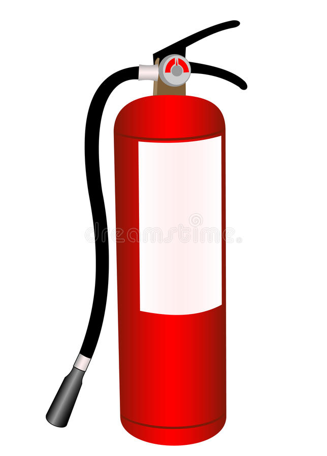 Fire extinguisher royalty free illustration
