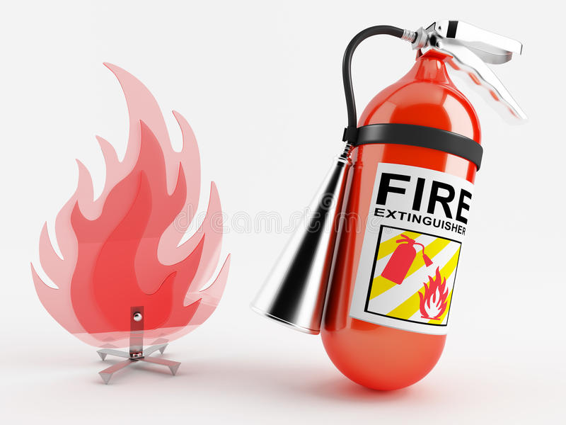 Download Fire extinguisher stock illustration. Image of container - 25490894