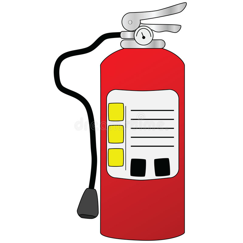 Download Fire extinguisher stock vector. Image of object, illustration - 6898464