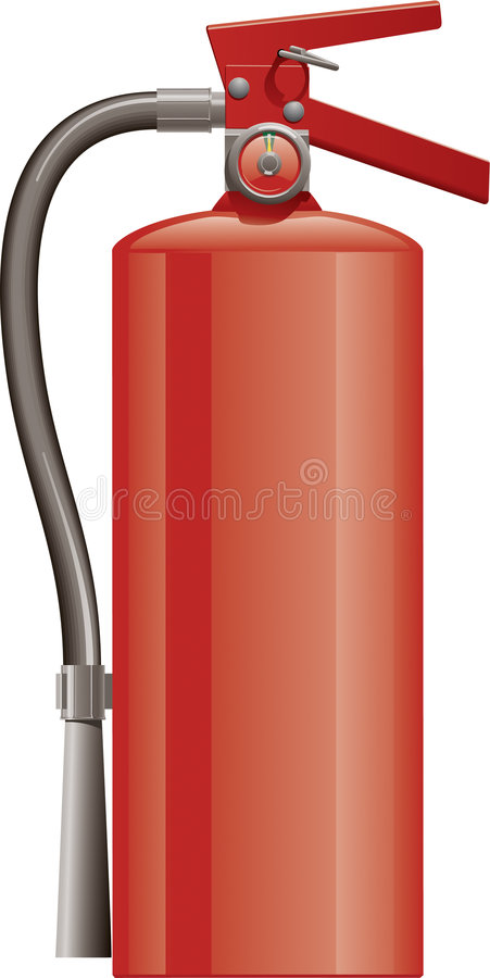 Download Fire Extinguisher stock vector. Image of extinguish, safety - 8303213