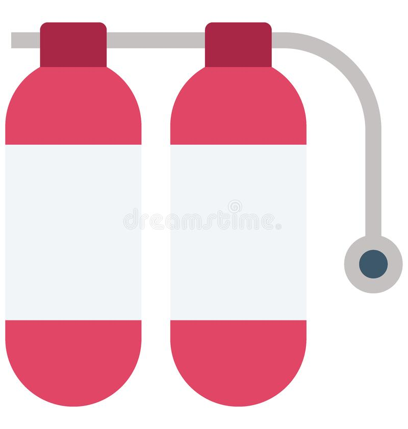 Fire Extinguisher Color Vector Icon which can easily modify or edit vector illustration
