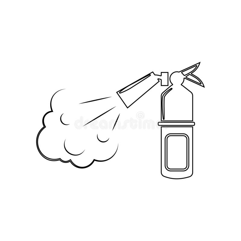 Fire extinguisher icon. Element of Fireman for mobile concept and web apps icon. Outline, thin line icon for website design and. Development, app development on vector illustration
