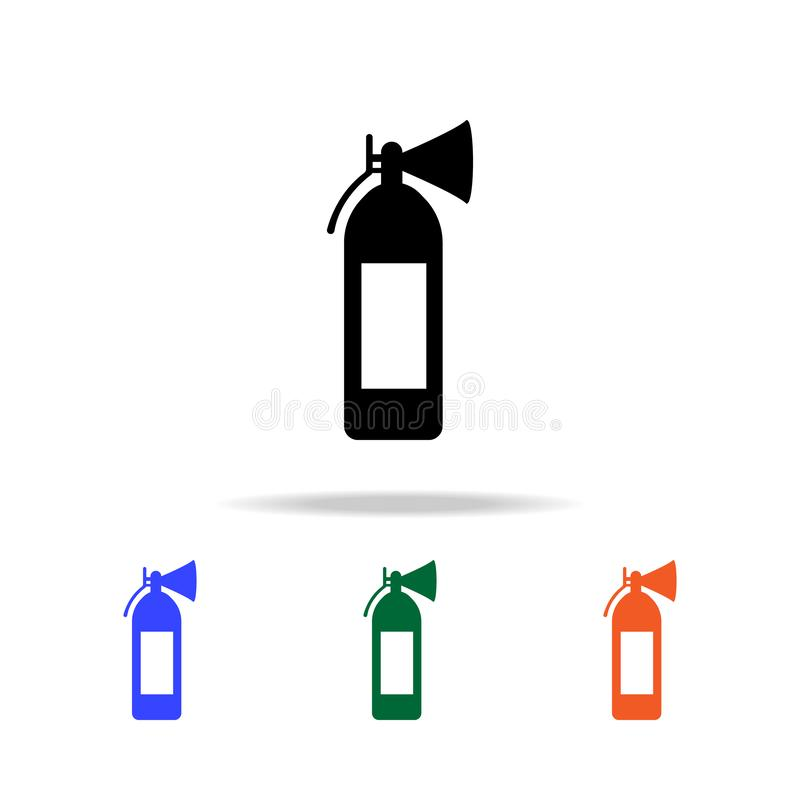 Fire extinguisher icon. Elements of simple web icon in multi color. Premium quality graphic design icon. Simple icon for websites. Web design, mobile app, info royalty free illustration
