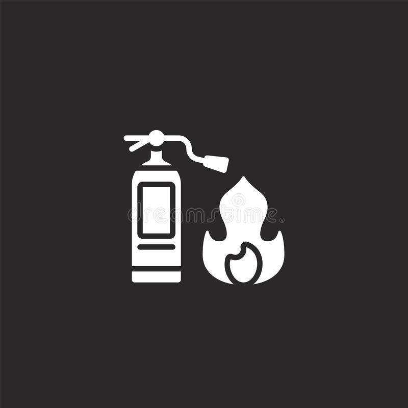 Fire extinguisher icon. Filled fire extinguisher icon for website design and mobile, app development. fire extinguisher icon from. Filled rescue and response vector illustration