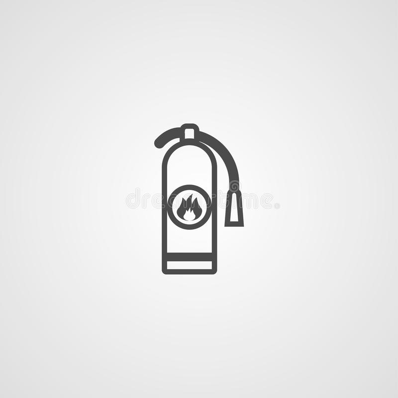 Fire extinguisher vector icon sign symbol vector illustration