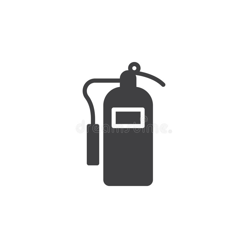 Fire extinguisher icon vector, filled flat sign, solid pictogram isolated on white. stock illustration