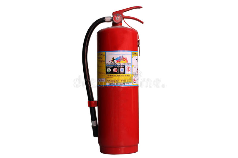 Fire Extinguisher Isolated. Fire Extinguisher for Safety Protection royalty free stock image