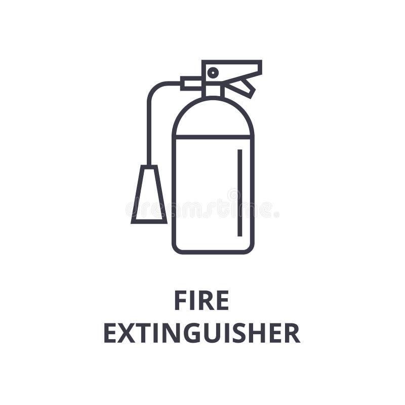 Fire extinguisher line icon, outline sign, linear symbol, vector, flat illustration stock illustration