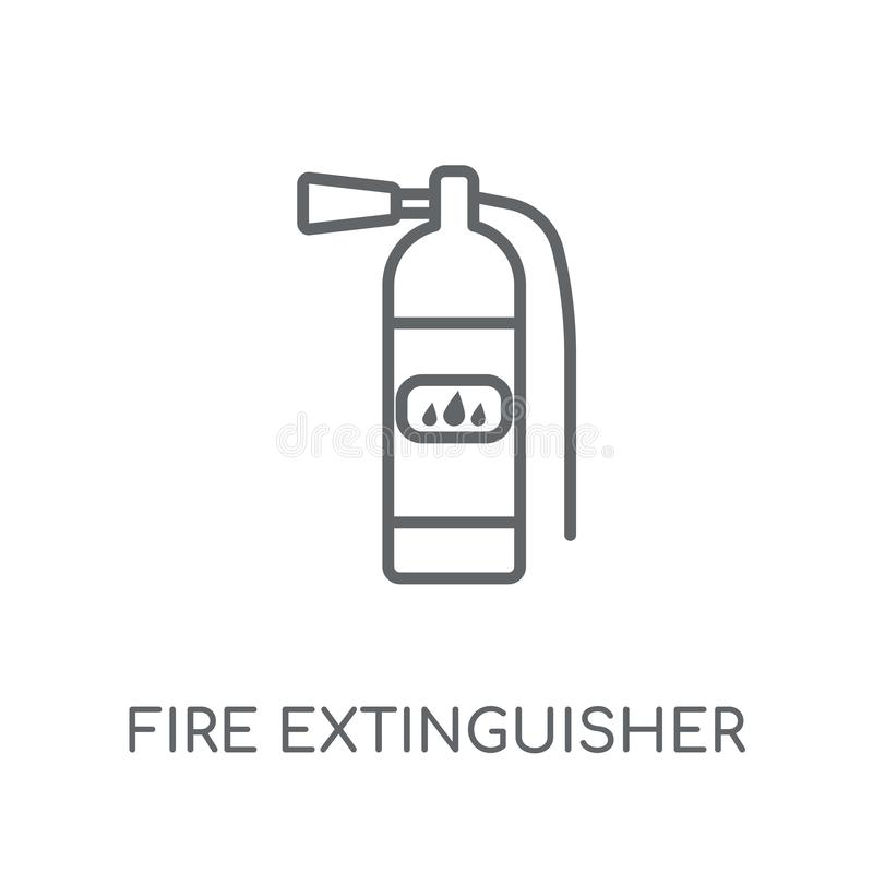 Fire extinguisher linear icon. Modern outline Fire extinguisher royalty free illustration