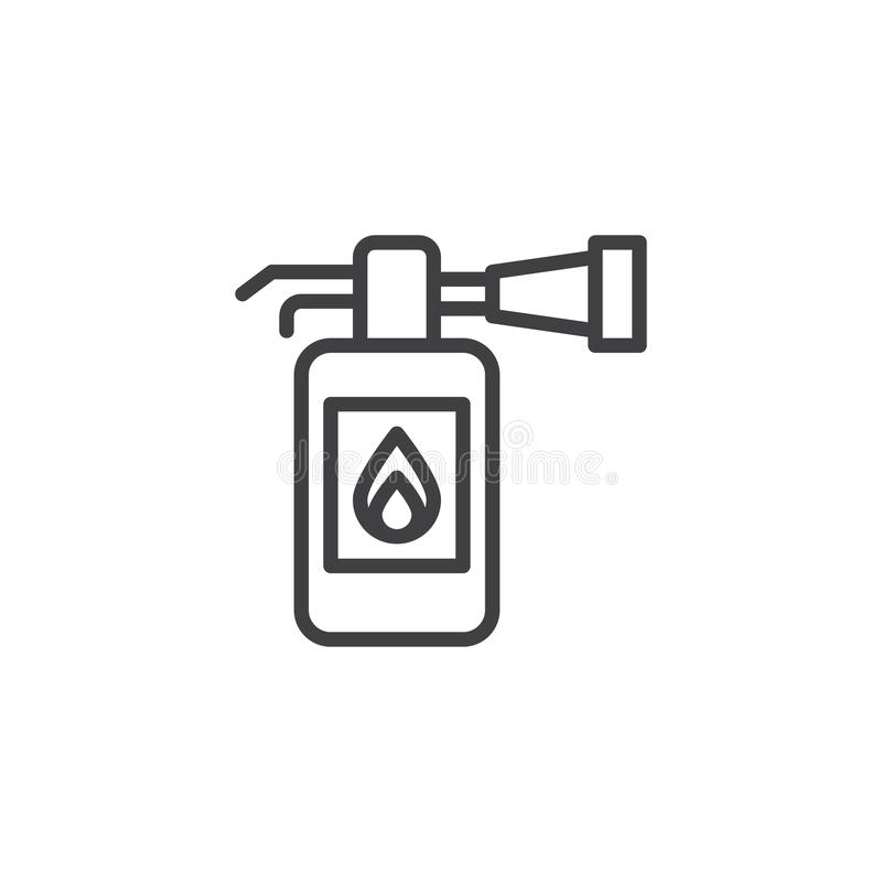 Fire extinguisher outline icon stock illustration