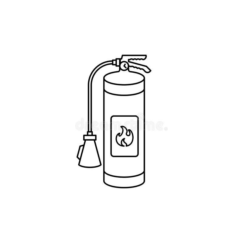 Fire extinguisher outline icon. stock illustration