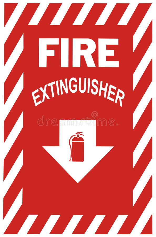 Download Fire Extinguisher Sign stock photo. Image of flame, safety - 458052