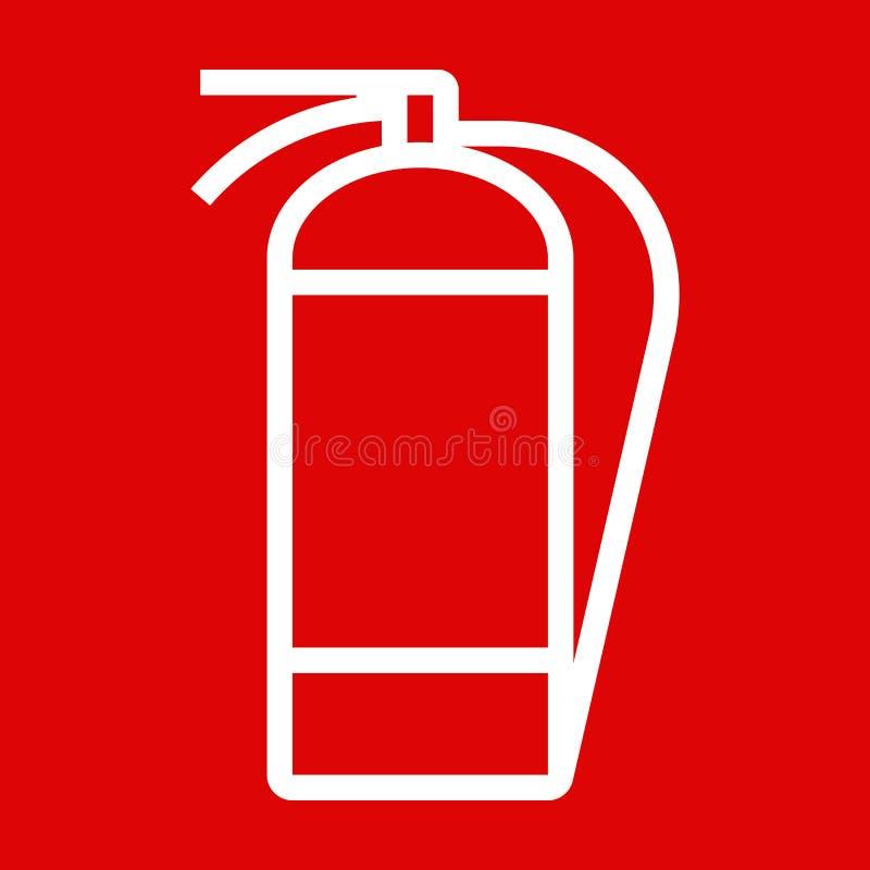 Fire extinguisher sign stock image image 35456091 - Porte serviette echelle bois ...