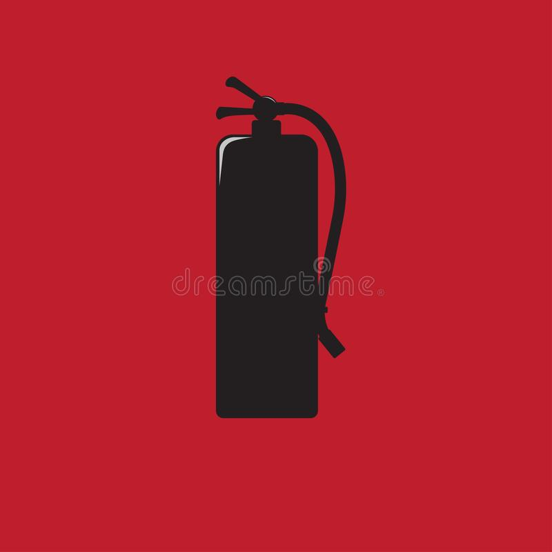 Fire extinguisher signs black icon vector illustration royalty free illustration