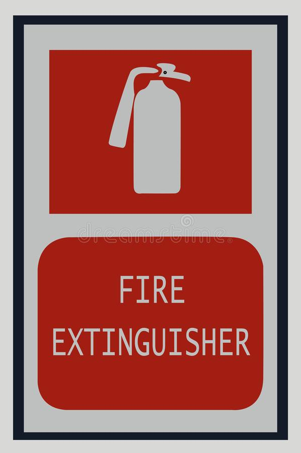 Fire Extinguisher Signs Fire Symbol Stock Illustration
