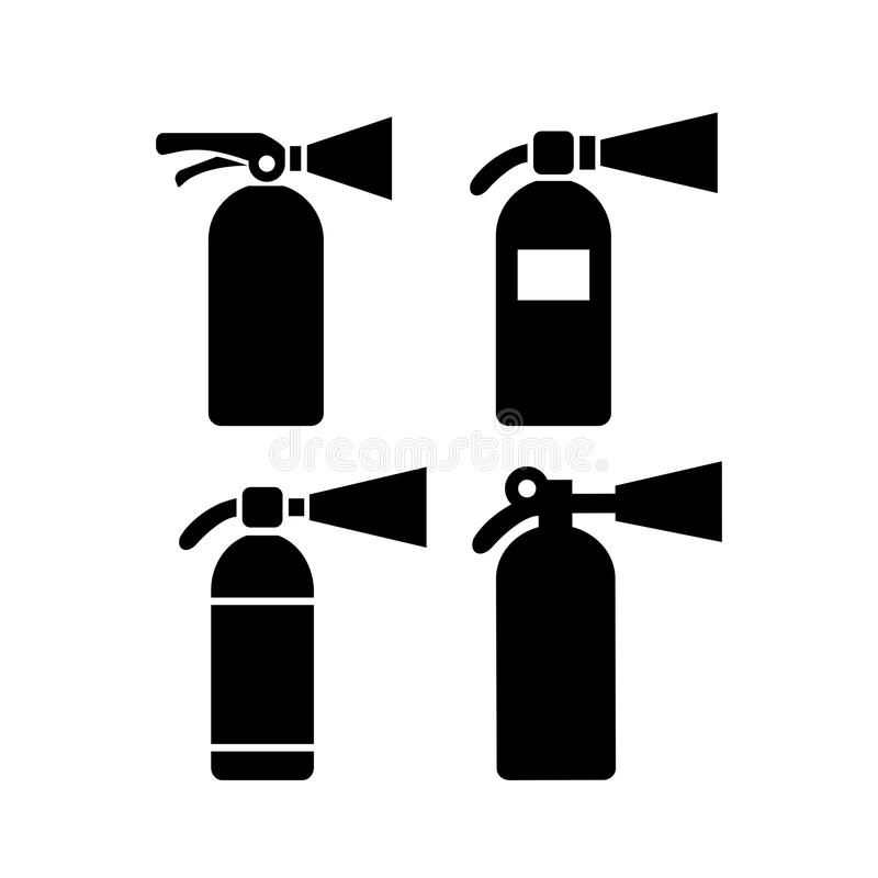 Fire extinguisher vector icon. S set royalty free illustration