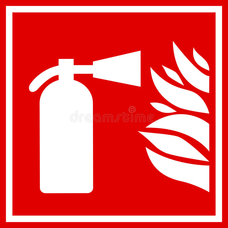 Fire extinguisher vector sign vector illustration