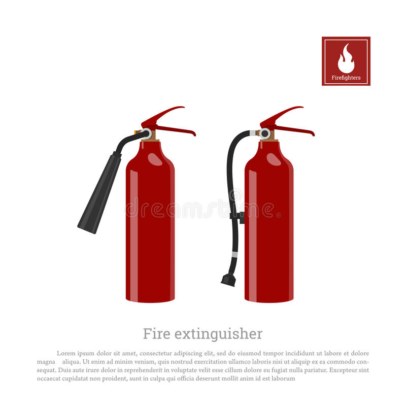 Fire extinguisher on a white background. Firefighter equipment in realistic style royalty free illustration