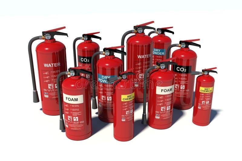 Fire extinguishers royalty free illustration