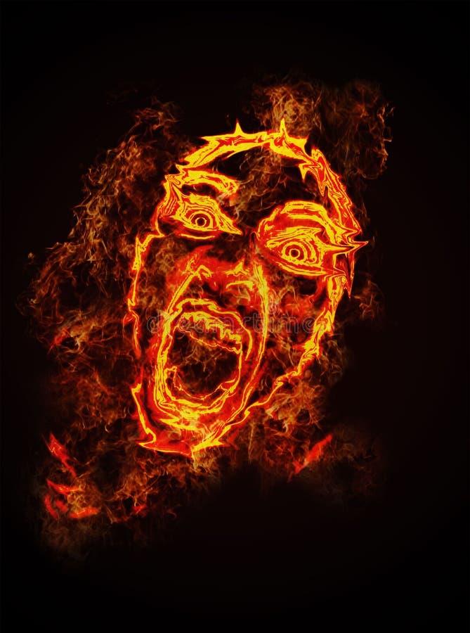 Fire face stock illustration