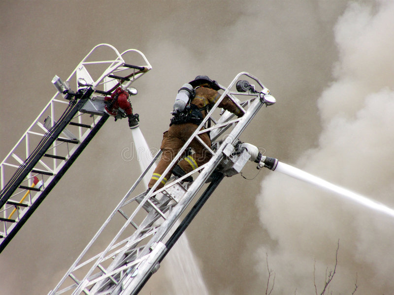 Download Fire Fight stock image. Image of hoses, burning, billowing - 4434979