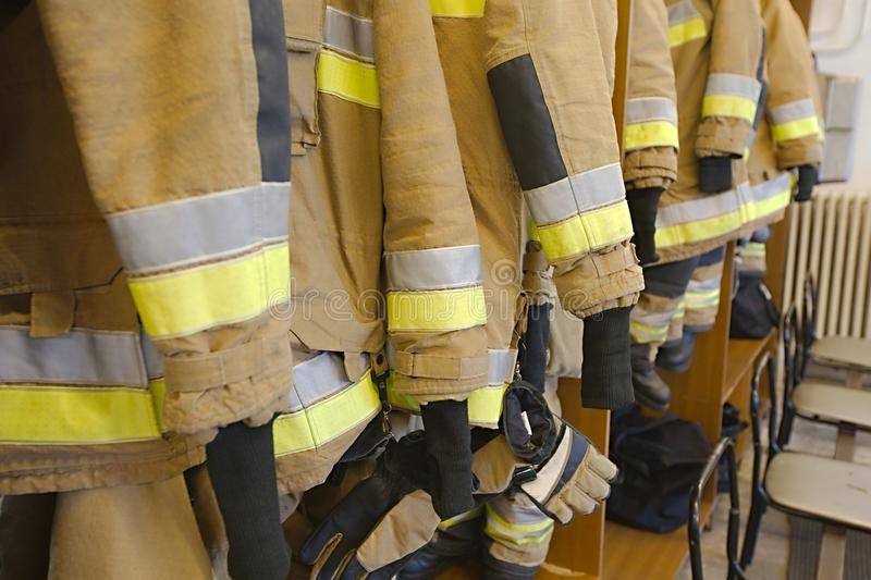 Fire fighter clothes royalty free stock image