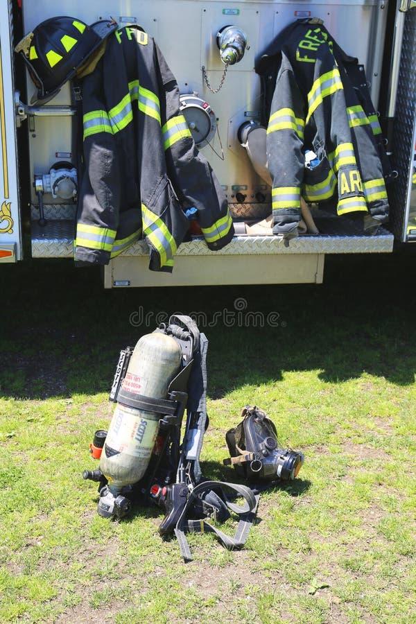 Fire fighter gear stock photos
