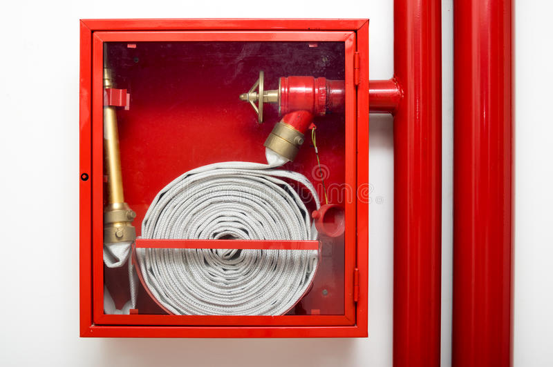 Fire fighter hose stock photography