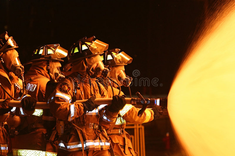 Fire Fighters stock image