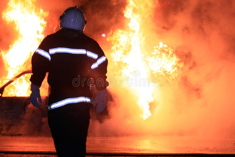 Download Fire fighting stock photo. Image of smoke, heroes, group - 33774892