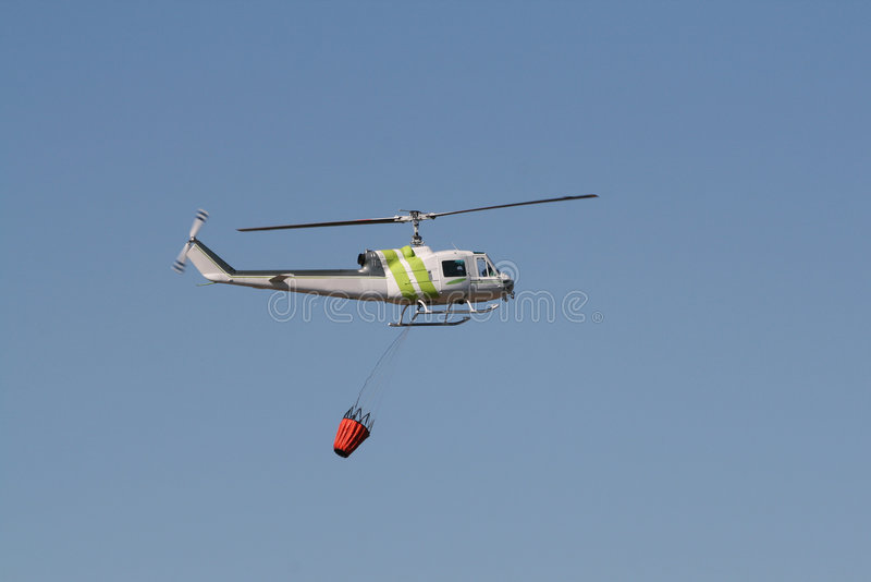 Fire Fighting Helicopter stock image