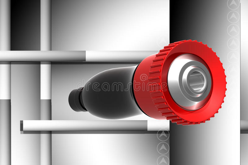 Download Fire fighting nozzle stock illustration. Illustration of attractive - 14598078