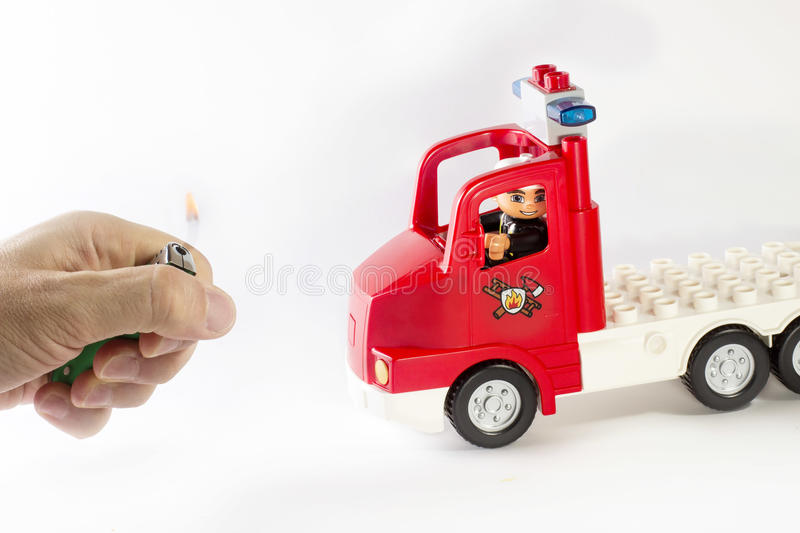Fire firefighters lighter hand stock photography