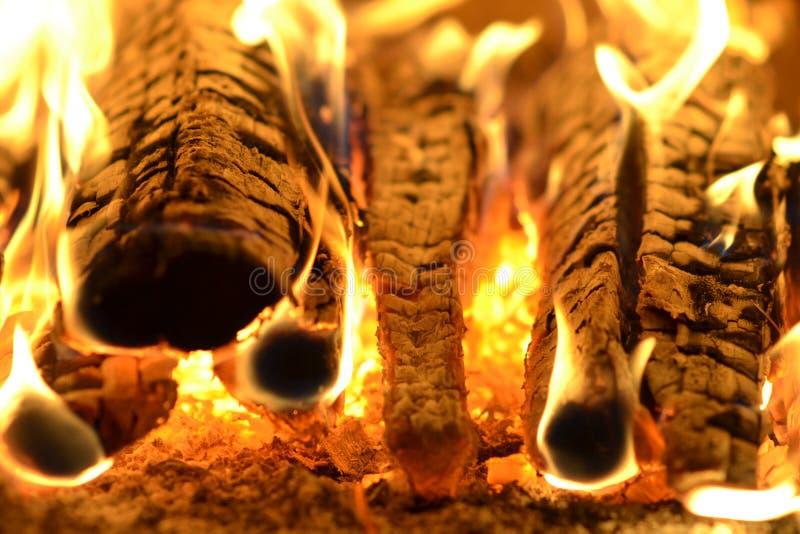 Fire, fireplace, Late evening, night stock photos