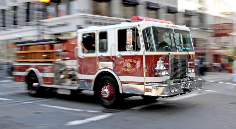Download Fire - Firetruck On Rush In San Francisco Editorial Stock Photo - Image: 14314728