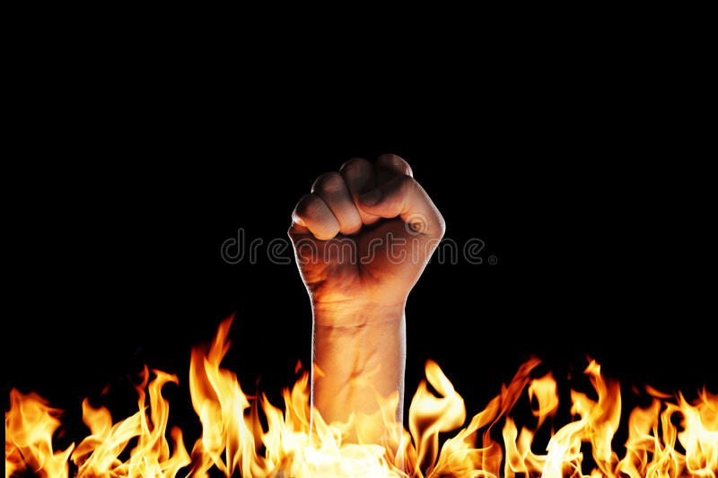 Fire Fist Stock Image