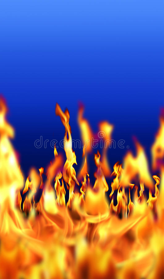 Fire flame. An image of fire flame in blue background stock photography