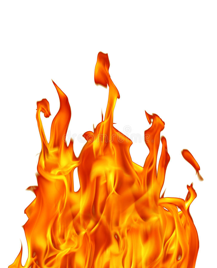 Fire flame. An image of fire flame in white royalty free stock photo