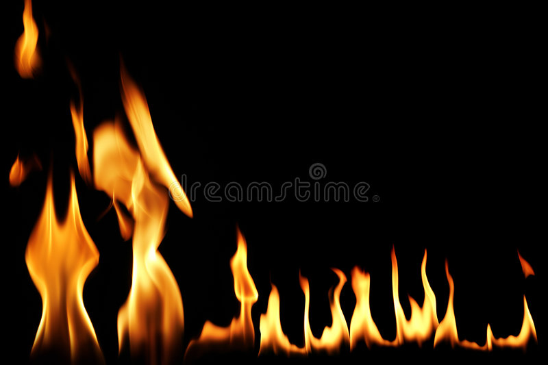 Fire flame. Conceptual fire flame in black royalty free stock photos