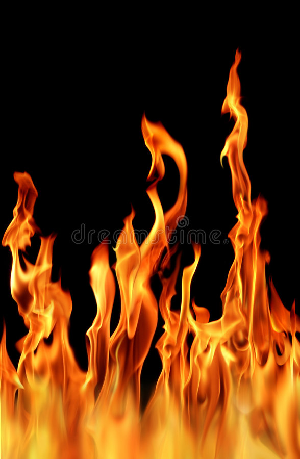 Fire flame. Close up shot of a fire flame in black background royalty free stock images