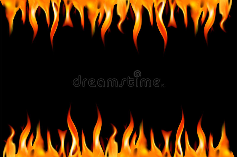 Download Fire Flame On A Black Background. Stock Vector - Illustration of flame, isolated: 18896308