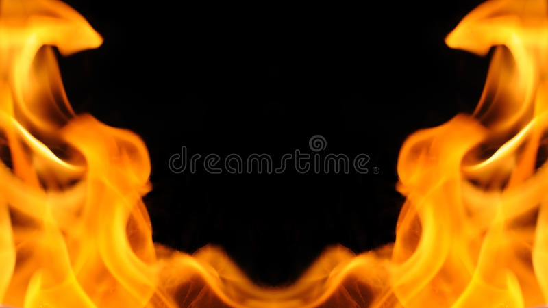 Fire blaze texture, background. Fire flame in black background royalty free stock photography